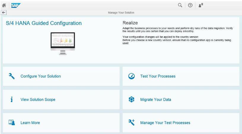 Schermata di SAP Activate, la nuova metodologia di implementazione di SAP