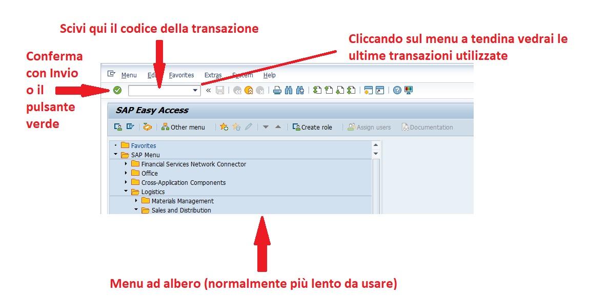 Codici di transazione (T-Codes o transaction codes) in SAP ERP